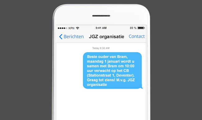 SMS notificaties